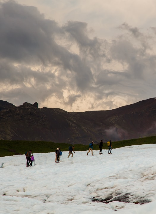 A group on one of our glacier tours, heading up Falljökull outlet glacier.